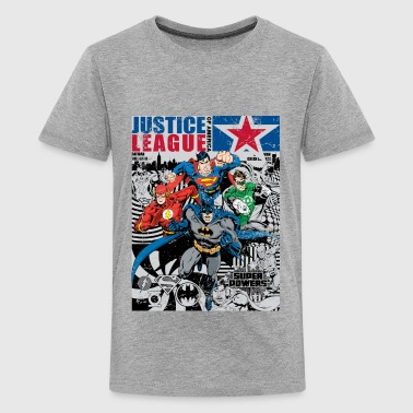 Justice League Character Mix - Teenager Premium T-shirt