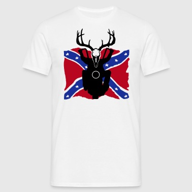 rockabilly rebel flag biker T-Shirts - Männer T-Shirt