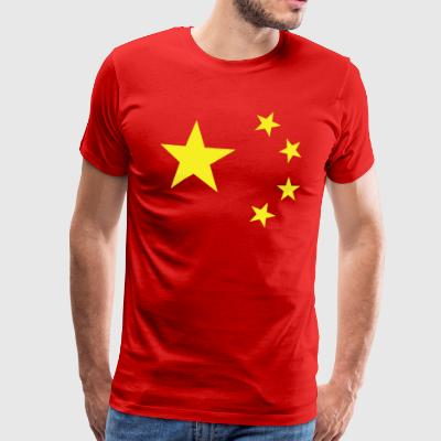 China Flag Men's T-Shirt - Men's Premium T-Shirt