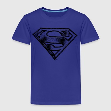 Supermann S-Shield Hand-Drawn T-skjorte for barn - Premium T-skjorte for barn