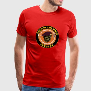 Proud to have served Veteran Van Heutsz - Mannen Premium T-shirt