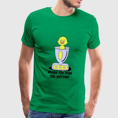 Would you push the button? - Männer Premium T-Shirt