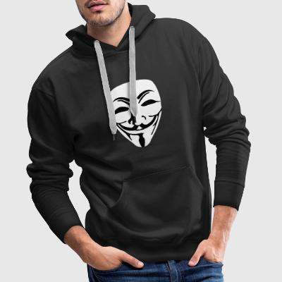 Mask Guy Fawkes anonymous - Men's Premium Hoodie