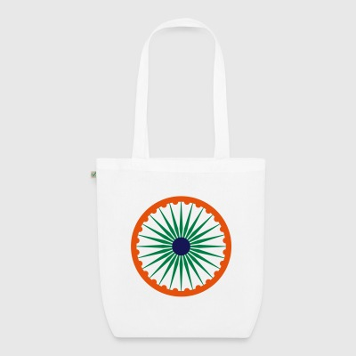 Ashoka Chakra indian flag organic bag - EarthPositive Tote Bag