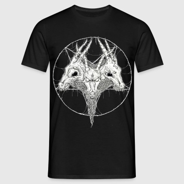 goat head pentagram  - Men's T-Shirt