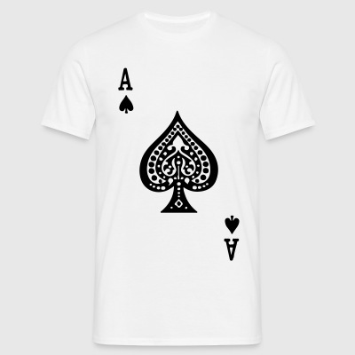 Ace of Spades by Casual Pirate - Men's T-Shirt