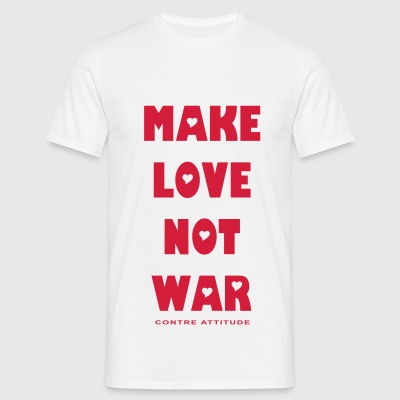 MAKE LOVE NOT WAR - T-shirt Homme