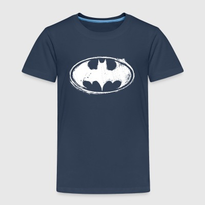 Batman logo hvit T-skjorte for barn - Premium T-skjorte for barn