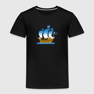 piratskepp multicolor 1 T-shirts - Premium-T-shirt barn