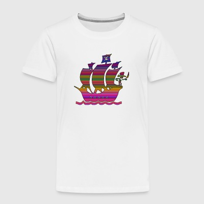 piratskepp multicolor 3 T-shirts - Premium-T-shirt barn