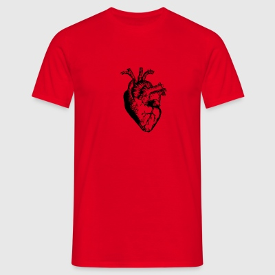 Heart in the Right Spot - Men's T-Shirt