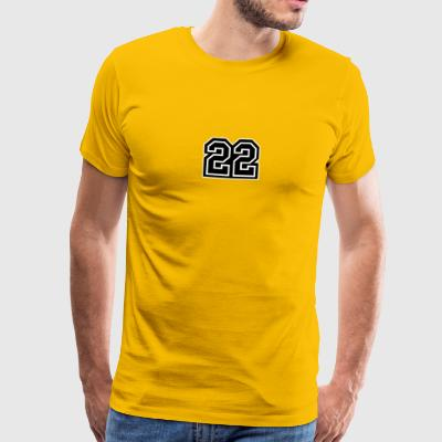 22 yellow tee shirt men - Men's Premium T-Shirt
