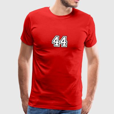 44 college red tee men - Men's Premium T-Shirt