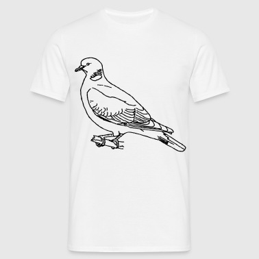 Tee-shirt standard blanc homme palombe pigeon - T-shirt Homme