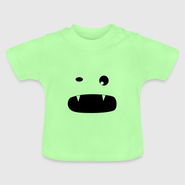 Cute little Monster with 2 Teeth - Baby T-Shirt