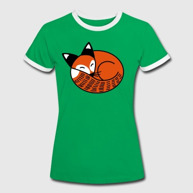 Sleepy Fox - Women's Ringer T-Shirt