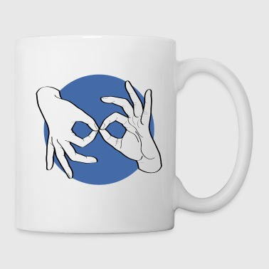 Deaf Interpreter white / blue - Tasse