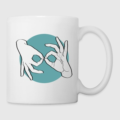 Deaf Interpreter white / green - Tasse