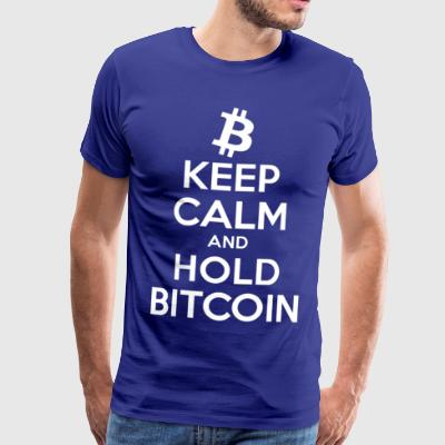 Keep Calm and Hold Bitcoin - Men's Premium T-Shirt
