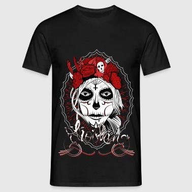 T-shirt Santa Muerte Men Black - T-shirt Homme