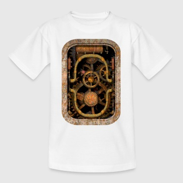 Rusty and Grungy Steampunk Machinery T-Shirt - T-skjorte for barn