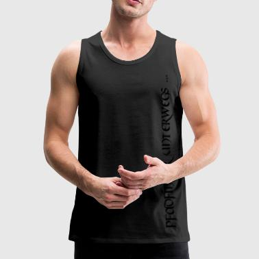 Pfadfinder unterwegs... - black on olive green - Männer Premium Tank Top