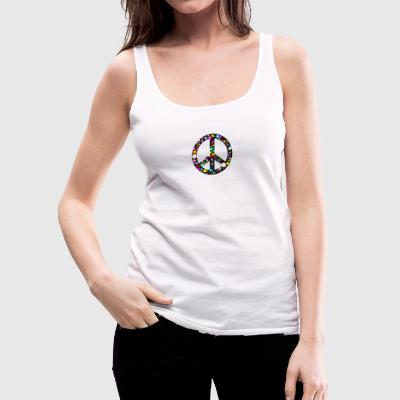 Flower Peace Sign Tops - Women's Premium Tank Top