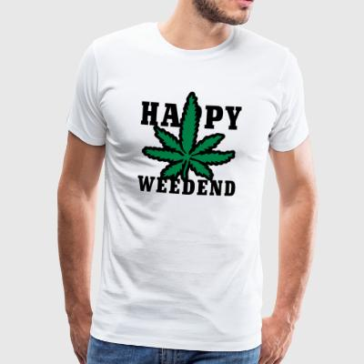 Happy Weedend T-Shirts - Men's Premium T-Shirt