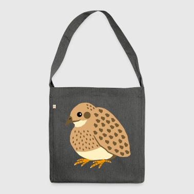 Japanese Quail - Shoulder Bag made from recycled material
