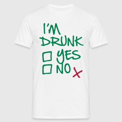 Drunk, check - Men's T-Shirt