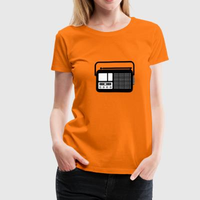 Radio pictogram T-shirts - Vrouwen Premium T-shirt