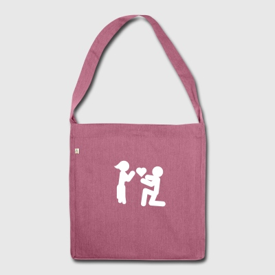 Love Piktogramm recycled bag - Schultertasche aus Recycling-Material