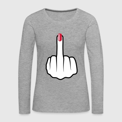Women middle finger nail polish Long Sleeve Shirts - Women's Premium Longsleeve Shirt