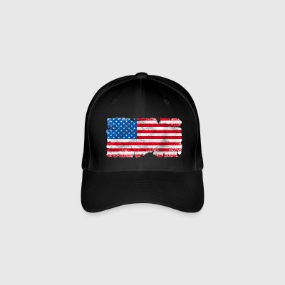 usa grunge flag Caps & Hats - Flexfit Baseball Cap