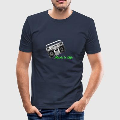 Music is Life - Männer Slim Fit T-Shirt