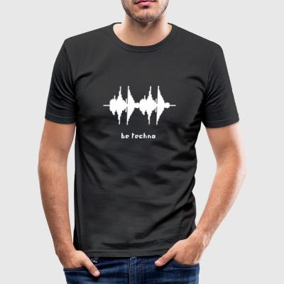 be techno frequence - Männer Slim Fit T-Shirt