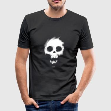 Black White Skull Men's T-Shirts - Men's Slim Fit T-Shirt