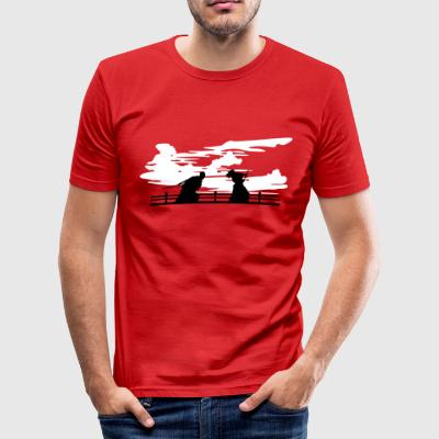 Ronin Showdown - Männer Slim Fit T-Shirt