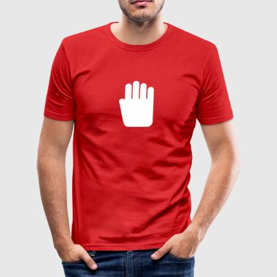 Stop Hand - Men's Slim Fit T-Shirt