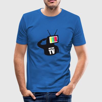 T-Shirt Col rond We are TV - Tee shirt près du corps Homme