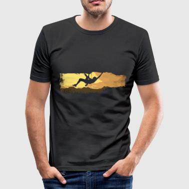 extreme climbing Bouldern T-Shirts - Men's Slim Fit T-Shirt