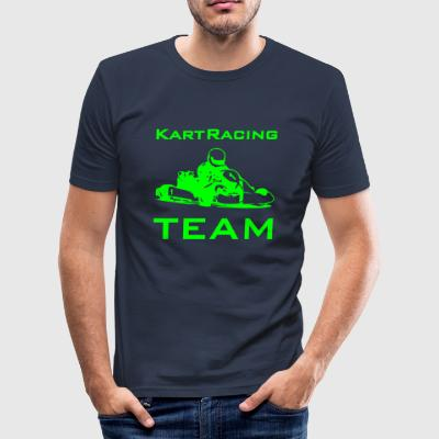 Kart Racing Team T-Shirts - Männer Slim Fit T-Shirt