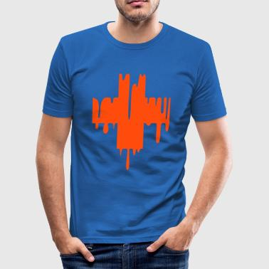 dripping cross / Croix degoulinante - Tee shirt près du corps Homme