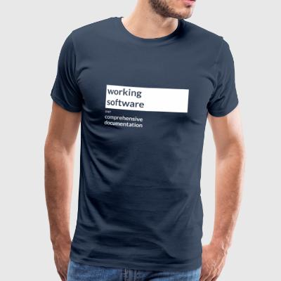 Agile Manifesto: Working Software - Männer Premium T-Shirt