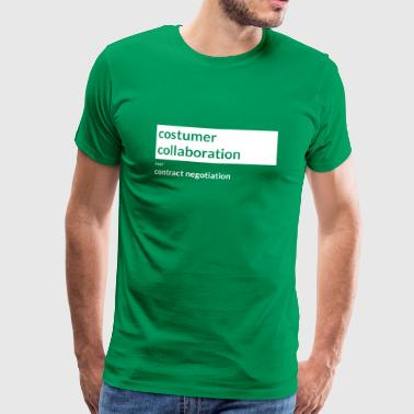Agile Manifesto: Customer collaboration - Männer Premium T-Shirt