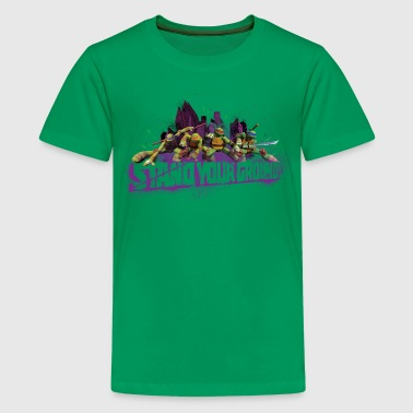 Teenager Premium Shirt TURTLES 'Stand your ground! - Premium-T-shirt tonåring