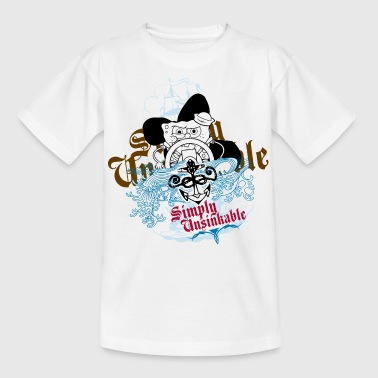 Teenagers' Shirt SpongeBob 'Simply Unsinkable' - Teenage T-shirt
