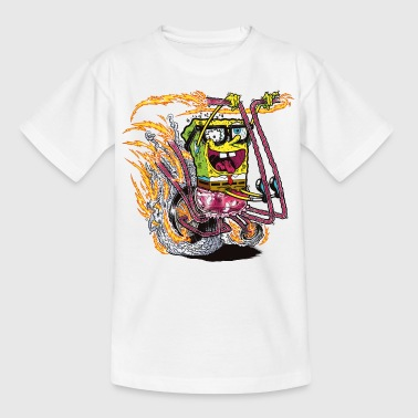 Teenagers' Shirt SpongeBob on crazy wheels - Teenage T-shirt