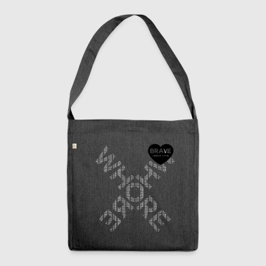 Brave White Whore Cross Tote - Shoulder Bag made from recycled material