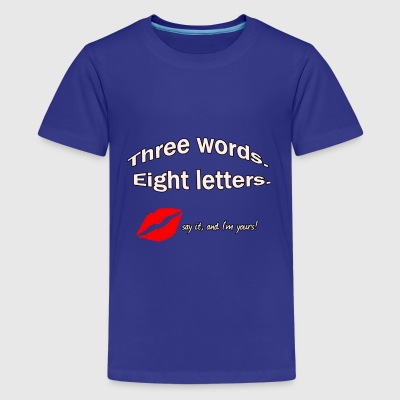 3 words, 8 letters Shirts - Teenage Premium T-Shirt